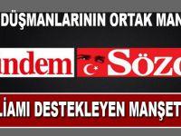 Sözcü ve PKK'dan aynı manşet!
