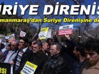 """Kahramanmaraş'tan Suriye direnişine destek; """"Suriye direnişi onurumuzdur!"""""""