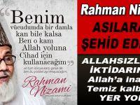 Bangledeşli Müslüman Alim Rahman Nizami asılarak şehid edildi!