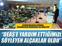 """Cumhurbaşkanı Erdoğan Genelkurmay Başkanlarına hitap etti; """"Damdan düşenin halini damdan düşen anlar!"""""""