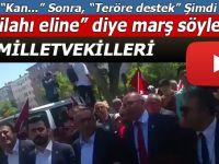 """CHP Milletvekilleri; """"Al silahı eline...""""diye diye Anıtkabir'e yürüdüler!"""