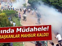 Belediye binasına PKK bayrağı asınca; Anında müdahale yapıldı!