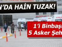 Van'da hain tuzak: 5 asker şehit