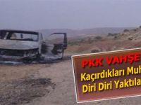 PKK kaçırdığı muhtarı yakarak öldürdü