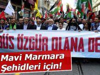 Mavi Marmara için yürüdüler