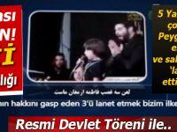 İran'da 5 yaşındaki çocuğa Peygamberin eşine lanet ettirilen tören düzenlendi!