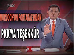 FOX Haber'de PKK'ya teşekkür