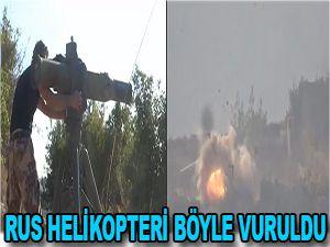 Rus helikopteri böyle vuruldu